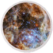 Round Beach Towel featuring the photograph Star Cluster R136 by Marco Oliveira