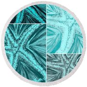 Starfish Pop Art Round Beach Towel