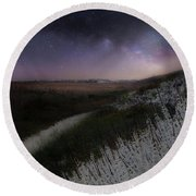 Round Beach Towel featuring the photograph Star Flowers Square by Bill Wakeley