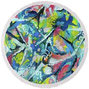 Star Forming Round Beach Towel