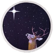 Star Gazer Round Beach Towel
