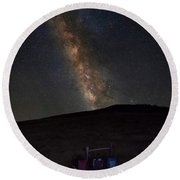Round Beach Towel featuring the photograph Star Gazing by Norman Peay