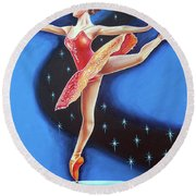 Star Night Round Beach Towel