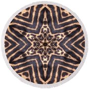 Star Of Cheetah Round Beach Towel by Maria Watt
