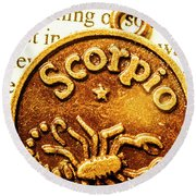 Star Sign In Scorpio Round Beach Towel