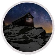 Round Beach Towel featuring the photograph Star Spangled Banner by Bill Wakeley