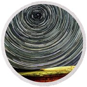 Star Trail Round Beach Towel