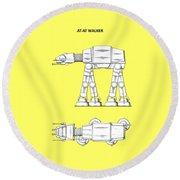 Star Wars - At-at Patent Round Beach Towel
