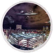 Round Beach Towel featuring the photograph Star Wars Detroit by Nicholas Grunas