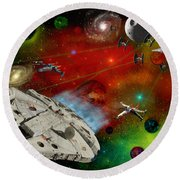 Star Wars Round Beach Towel by Michael Rucker