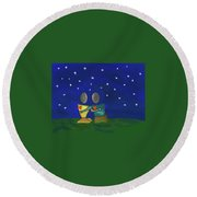 Star Watching Round Beach Towel