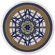 Star Window I Round Beach Towel