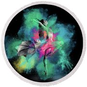 Stardust Dancer Round Beach Towel