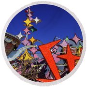 Round Beach Towel featuring the photograph Stardust by Skip Hunt