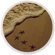 Round Beach Towel featuring the photograph Starfish Constellation by Marie Hicks