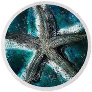 Starfish Ocean Deep Round Beach Towel