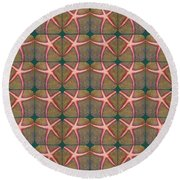Starfish Pattern Round Beach Towel