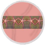 Starfish Pattern Bar Round Beach Towel