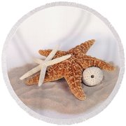 Starfish Still Life Round Beach Towel