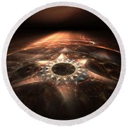 Round Beach Towel featuring the digital art Stargate by Richard Ortolano