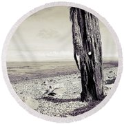 Round Beach Towel featuring the photograph Stark Reality by Keith Elliott