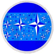 Starlight 9 Round Beach Towel by Linda Velasquez