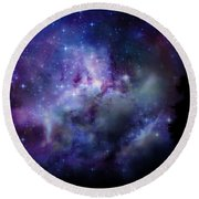 Starlight Round Beach Towel