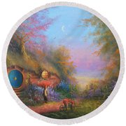 Bilbo Baggins Round Beach Towel by Joe Gilronan