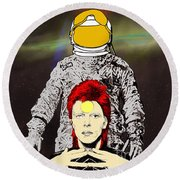 Starman Bowie Round Beach Towel