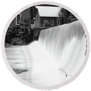 Starr's Mill Waterfall Round Beach Towel