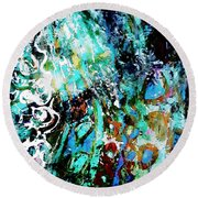 Starry Contribution Round Beach Towel
