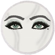 Round Beach Towel featuring the painting Starry Eyed by Lisa Weedn