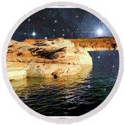 Starry Night Fantasy, Lake Powell, Arizona Round Beach Towel