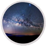 Starry Night Georgian Bay Round Beach Towel