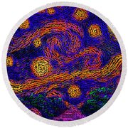 Starry Path Round Beach Towel