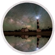 Starry Reflections Round Beach Towel