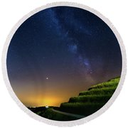 Starry Sky Above Me Round Beach Towel