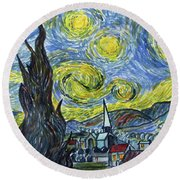 Starry, Starry Night Round Beach Towel