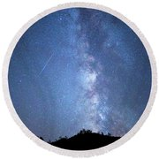 Stars And A Meteor Round Beach Towel