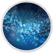 Stars And Bokeh Round Beach Towel