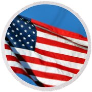Stars And Stripes Round Beach Towel