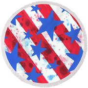 Stars And Strips  Round Beach Towel