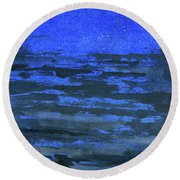 Stars In The Blue Heights Round Beach Towel by R Kyllo