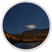 Stars Over Kinsman Notch Round Beach Towel