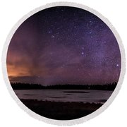 Round Beach Towel featuring the photograph Stars Over Lake Eaton by Rod Best