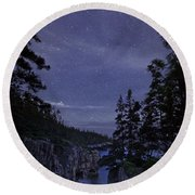 Stars Over Raven's Roost Round Beach Towel