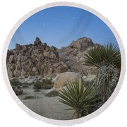 Stars Shining Over Indian Cove Round Beach Towel