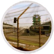 Start Finish Indianapolis Motor Speedway Round Beach Towel by Iconic Images Art Gallery David Pucciarelli