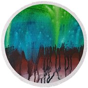 Stary Cave Round Beach Towel