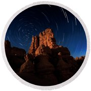Stary Trails At Red Canyon Round Beach Towel